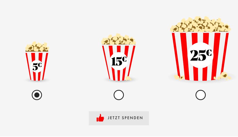 Virtuelles Popcorn